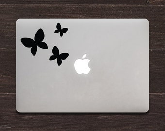 Butterflies Version 2 Vinyl MacBook Decal BAS-0283