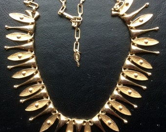 Sarah Coventry Gold Egyptian Temptress Necklace