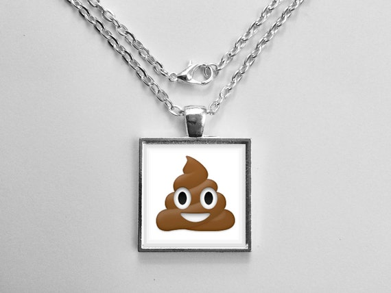 Pile of Poop Emoji Necklace or Keychain