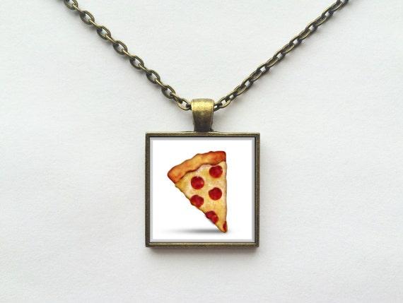 Pizza Food Emoji Necklace or Keychain
