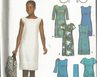 Simplicity 9747 Easy Chic Womens Dress, Scarf, and Bag Pattern SZ 14-20