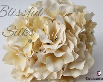 Vanilla Cream Artificial Hydrangea - WITHOUT STEM, Hydrangea Petals, For Flower Crowns