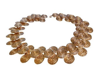 Massive Etruscan Style Collar Necklace