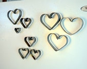 "RING ART - ""Daya"" - Set of 3 Small Magnetic Hearts - 100% Recycled"