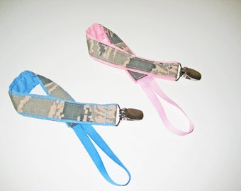 Boys or Girls Air Force ABU Universal Pacifier Clip - Made To Order
