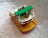 Fisher price 1978 ferry little people boat