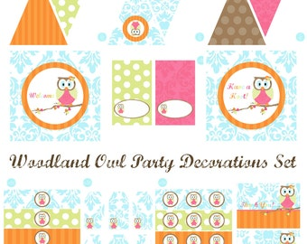 Woodland Owl Birthday Party, Woodland Owl Baby Shower, Owl Birthday Decorations, Owl Baby Shower Decorations, Owl Party Decorations