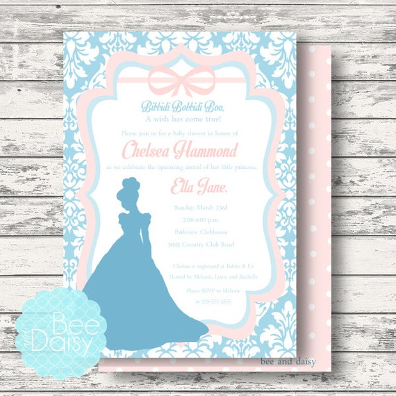 shower invitation cinderella birthday invitation cinderella baby