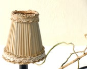 Reserved to Christine-  Shabby chic lamp, Fabric Lampshade, Rustic antique lamp, Lace table lamp shade, Country French decor,