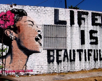 Banksy Print  - Life is Beautiful - Multiple Paper Sizes