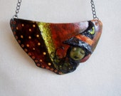 Gourd, Halloween, Neckless, Handmade, Seasonal,