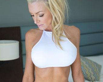 Bikini Swimwear Swimsuit White Bikini Top for Women - Cobolt