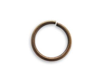Vintaj Jump Ring, 15mm, Round, Natural Brass, 12pcs - Vintaj Item JR60 - ID 535