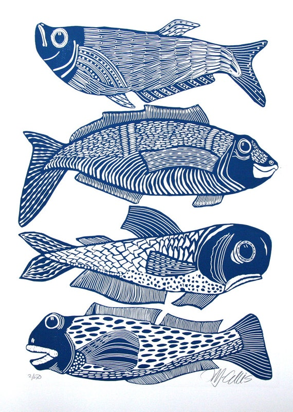 Patricia liste 2 impressions avec 4 poissons for Big fish printing