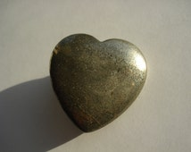 Pyrite Heart, Heart of Gold, Polished Fools Gold, Iron Pyrite, prosperity, abundance, protection, supports all chakras, chakra bookmark