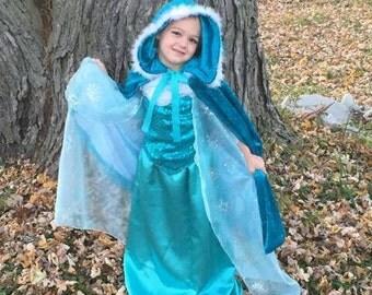 Frozen ice queen cloak