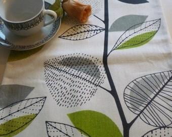 "78"" Lime Green Table Runner Modern Designer Floral Cotton Over 6ft (2mts long-78"")"