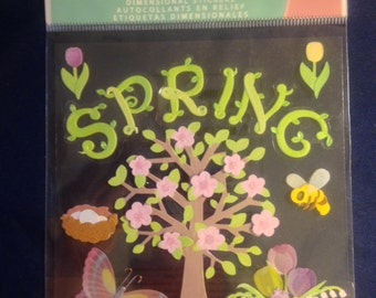 Jolee's Boutique --   Spring  --  self adhesive dimensional stickers -- NEW  --  (#994)