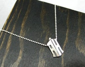 Doctor Who Logo, TARDIS Inspired Sterling Silver Initial Pendant