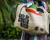 Costa Rica Toucan - Custom Wedding Tote Bags - Eco-Friendly and Handmade from Recycled Coffee Sacks