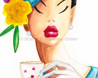 It's Tea Time Darling 10 x 14 Fine Art Print