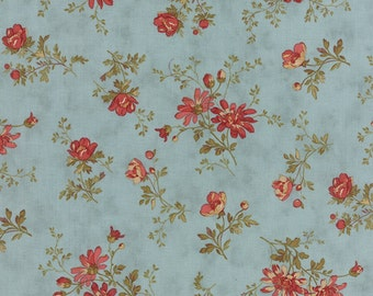 Atelier - Delicate Sprays in Aqua by 3 Sisters for Moda Fabrics