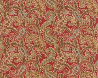 Atelier - Paisley in Scarlet by 3 Sisters for Moda Fabrics
