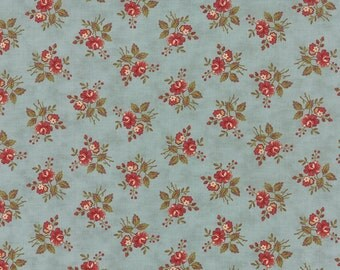 "Atelier - Petite Bouquet in Aqua by 3 Sisters for Moda Fabrics - 31"" Remnant"