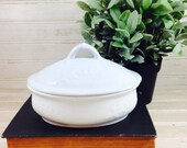 Vintage Shabby Chic Covered Ironstone Soap Dish