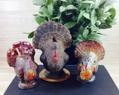 Vintage Gurley Wax Thanksgiving Turkey Candles