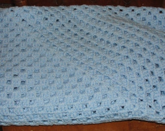Baby Blue Granny Square Lap/baby afghan