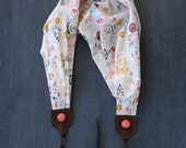scarf camera strap - wildflower