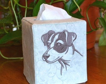 Jack Russell Terrier Head Tissue Box Cover