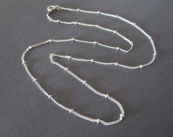 Sterling Silver Delicate Ball Chain Necklace