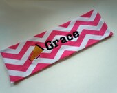 Cheer Cheerleader CHEVRON Stretch Headband PERSONALIZED and CUSTOMIZABLE with your name and colors and many sports available