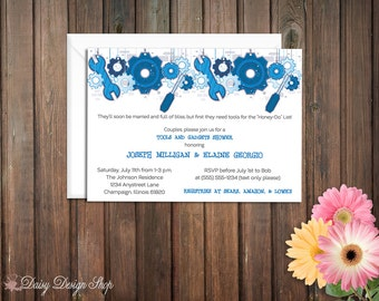 Tool Shower Invitation - Couples Shower