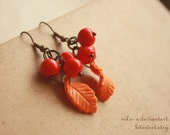 Autumnal Rowan earrings