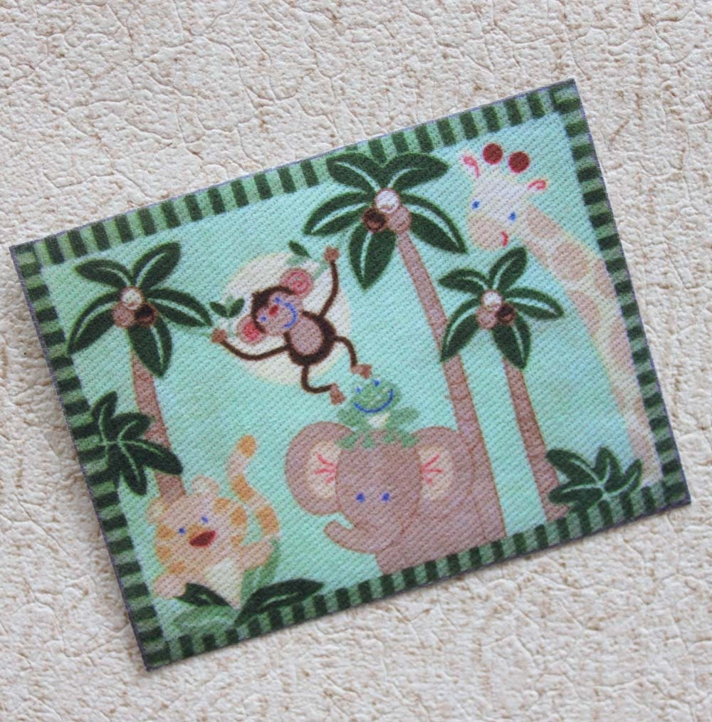 Miniature Nursery Or Childs Room Rug Jungle Animal Theme