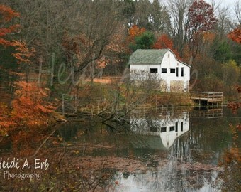 Blank Note Card, Photo Note Card, Greeting Card, Photo Card, landscape Note Card, Blank Photo Card, fall Photography, Nature card, Barn