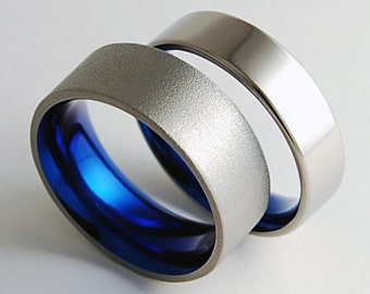 Wedding Bands, Titanium Rings , Titanium Wedding Ring Set , Titnaium Wedding Band Set , Promise Rings , Apollo Bands with Comfort Fit