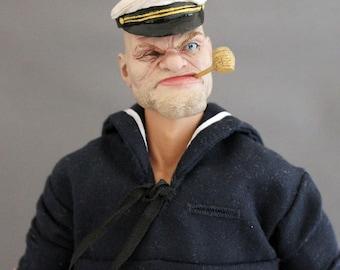 Popeye Custom OOAK 12 inch figure