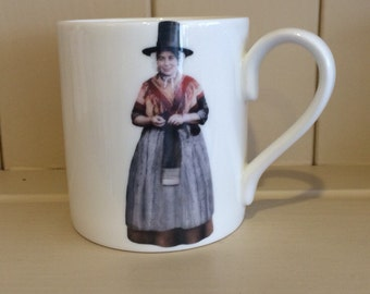 Welsh lady bone china mug from Wales