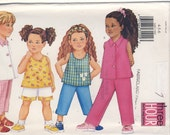 Butterick  6485 Toddlers Top, Shorts and Pants, Very Easy Multi Sizes 4 - 5 - 6