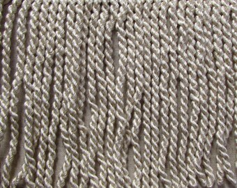 LAST PIECE 4 1/2 yards 8 inch ivory alabaster Bullion fringe