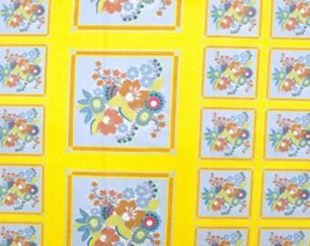 One Panel Anna Maria Horner Little Folks Voile - Square Dance in Citrus