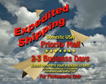 Expedite Shipping Upgrade to USPS Priority Shipping (2-3 days) within USA Only