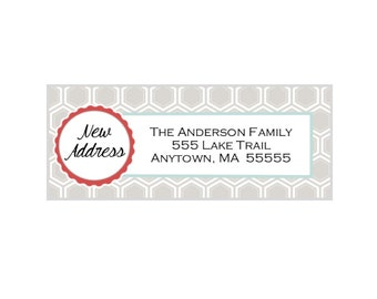 New Address Return Address Labels -  You Print