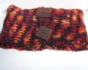 Autumn colors cowl neckwarmer scarf in wool