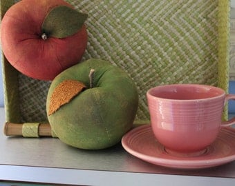 Fiestaware rose cup and saucer