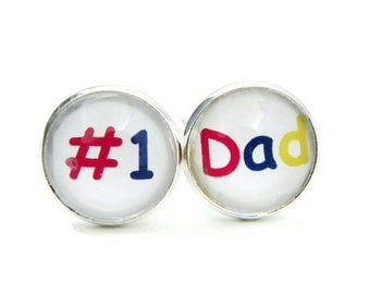 Number 1 Dad Cufflinks, Gift for Dad from Kids, Fathers Day Gift Ideas, Gift for Fathers Day, Gift for Husband, Gift for Dad from Daughter